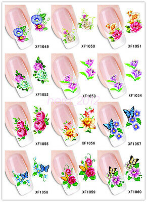 Flower Multi-style Nail Art Sticker Water Transfer DIY Decoration Decal Tips