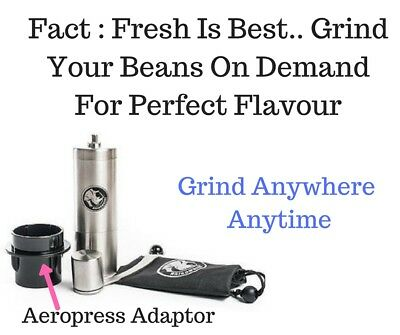 Aeropress Fit Coffee Hand Grinder Rhinowares Espresso Conical Ceramic