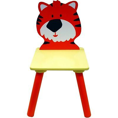 Hobbycraft Kids Wooden Tiger Animal Chair Stool Children's Paint Furniture