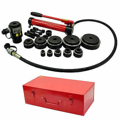 15 Ton Hydraulic Metal Hole Punch Kit for Industry Electrician 10 Die 16-102mm