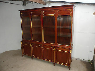A Most Stunning Walnut Gilded 5 Piece Display Cabinet / Bookcase