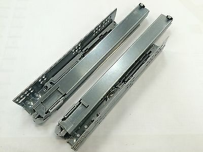 Dynapro Concealed Full Extension Drawer Runners 250-750mm, Plus 3D Fixing Clips