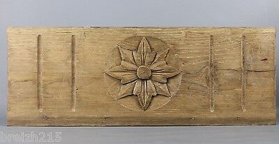 Antique French Carved wood Pediment Panel
