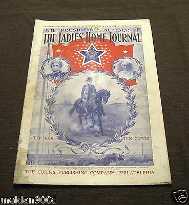 Antique The Ladies' Home Journal Magazine July 1898   Issue * SHIPS FREE W/BIN