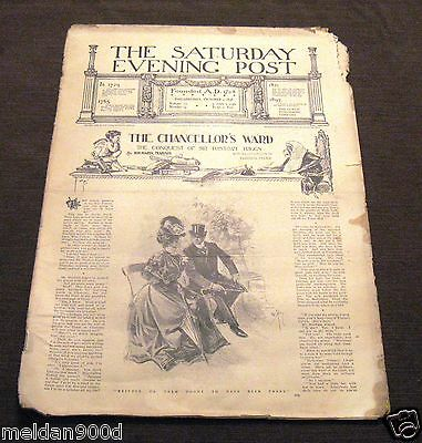 Antique THE SATURDAY EVENING POST Magazine Oct 1 1898   Issue * SHIPS FREE W/BIN