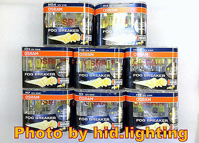 Osram Fog Breaker H1 H3 H4 H7 H8 H11 HB4 HB3 9006 9005 2600K bulb light Yellow