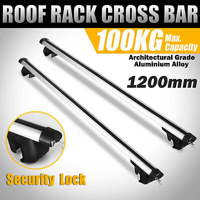 1200mm Top Car Roof Rack Luggage Cross Bar Aluminum Alloy Lockable Aerodynamic