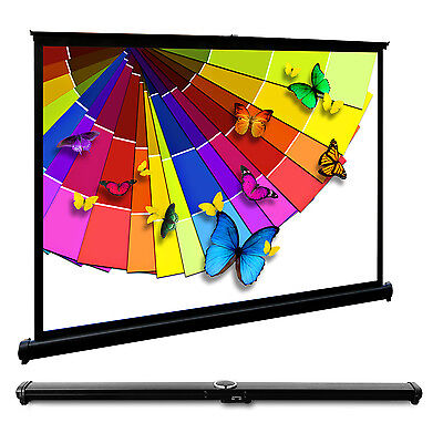 "40"" Inches Portable Stand Projector Screen 4:3 Desktop Meeting Presentation Home"