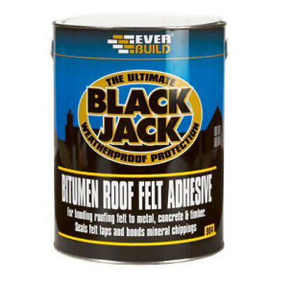 Everbuild 904 Black Jack BITUMEN ROOF FELT ADHESIVE Sealing Bonding - 5L