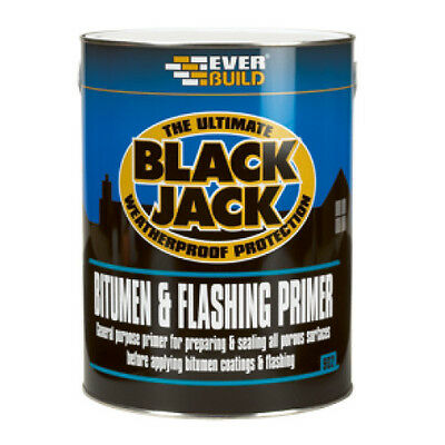 Everbuild 902 Black Jack BITUMEN & FLASHING PRIMER Flash Band Compound - 5L