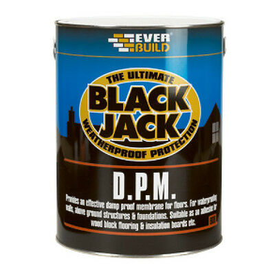 Everbuild 908 Black Jack DPM | Liquid Damp Proof Membrane For Floors | 5L
