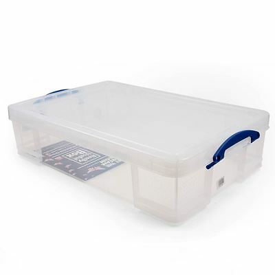 Really Useful Box 33 Litre Craft Storage Organizer Case Under The Bed Container