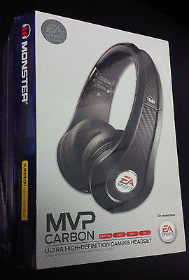 Monster MVP Carbon by EA Sports OnEar Gaming-Headset PS3 Xbox 360 Wii PC-Schwarz