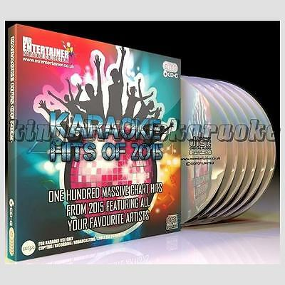 Karaoke CDG Discs Mr Entertainer Chart Hits of 2015, 6 CD+G Disc Set, 100 Songs