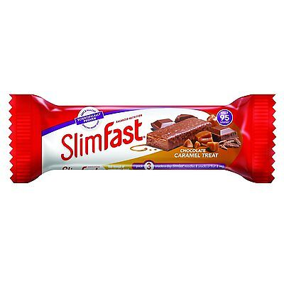 Slim Fast Snack Bar Chocolate Caramel Treat 26 g - Pack of 24