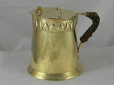 Arts & Crafts Brass Syrup Pitcher KSIA Keswick School Hearts 1915