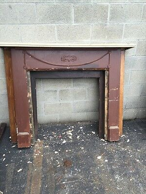 Cm Fp 42 Antique Oak Fireplace Mantle