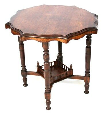 Antique Octagonal Crust Mahogany Occasional Table - FREE Delivery [PL1826A]