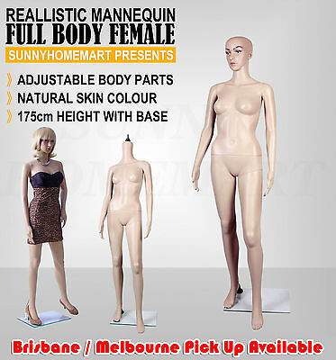 New Female Full Body Size Shop Model Window Clothes Mannequin Skin Tone 175cm F5