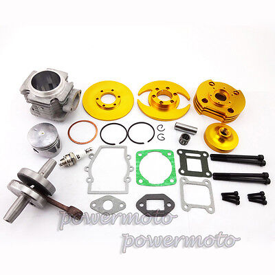 Big Bore kit 44mm Cylinder Piston Set For 47 49cc Pocket Bike Mini Dirt ATV Gold