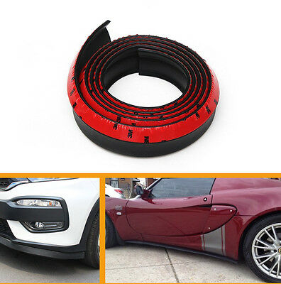 2.5M Black rubber Car Front Bumper Spoiler Lip Kit Splitter Protector Trim Body