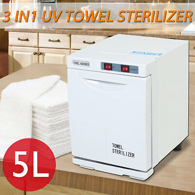 5L UV Towel Sterilizer Wamer Cabinet Beauty Spa Hot Disinfection Facial Heater