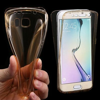 Seamless Front & Back 360 Full Protective Rubber Clear Cover Case For Samsung S7
