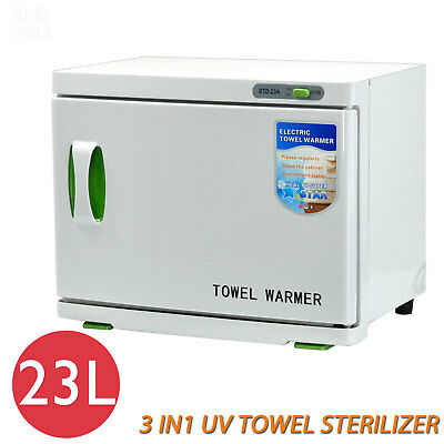 23L UV Towel Warmer Sterilizer Cabinet Salon Spa Hot Facial Beauty Disinfection