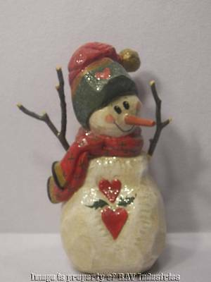 "1998 HOH House of Hatten Jackson Hole Good Cheer Snowman 12.5"" DC Denise Calla"