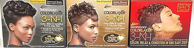 Luster's Pink Shortlooks COLORLAXER 3-N-1 Color, Relax Sable Brown Black Red