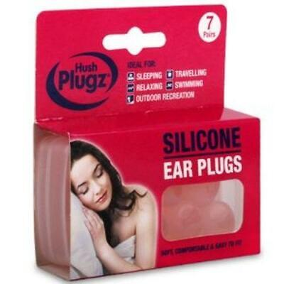 Hush Plugz Soft Silicone Earplugs - 7 Pair Pack ( avaiable in 1, 2 &3 packs )