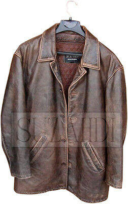 New Dean Winchester Supernatural Distressed Brown 100% Real Leather Jacket Coat