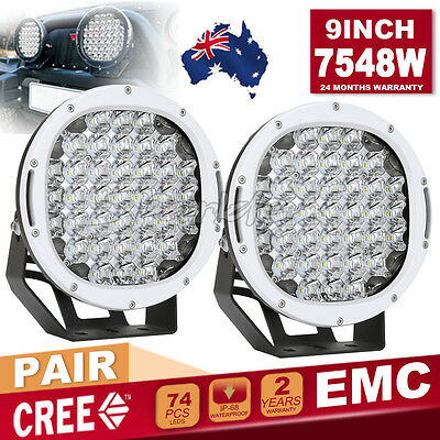 9'' 3544w ROUND NEW LED Driving Work Light Spot Offroad 4WD White Bullet HID SUV