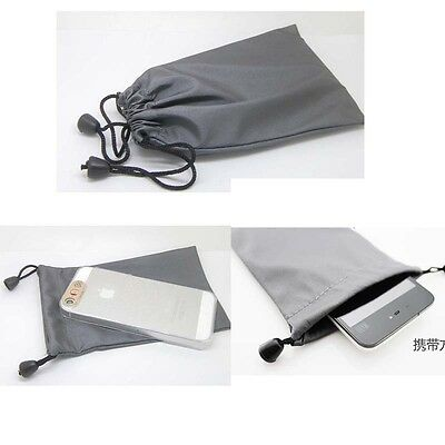 """Drawstring Storage Bag Portable Waterproof for phone cable power bank 3.5""""4.3""""5"""""""