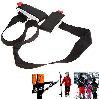 Adjustable Ski Pole Shoulder Hand Carrier Lash Handle Straps Porter Hook Loop