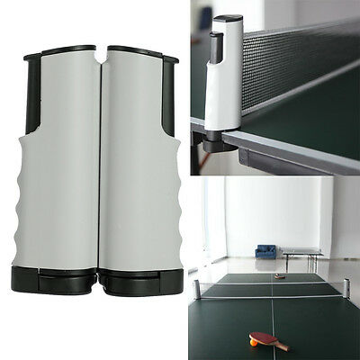 Games Retractable Table Tennis Ping Pong Portable Net Kit Replacement Black New