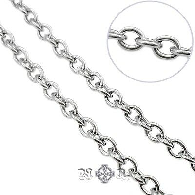 5m x Stainless Steel Open Link Cable Chain 5mm x 4mm x 1mm - Five Metres