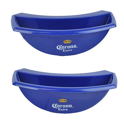 NEW RARE 2-Pc Corona Extra Bucket Caddy Lime Lemon Slice Holder Beer Party Bar