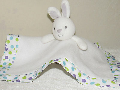 32e28da0e Carters Just One You Baby Bunny Blanket/Rattle Gray/ White Security Lovey  Toy