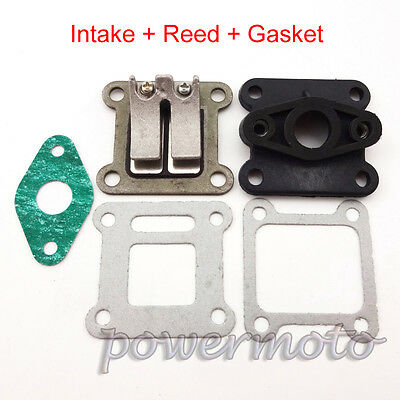 Reed Valve Inlet Manifold Gaskets For 47cc 49cc Mini Moto ATV Dirt Pocket Bike