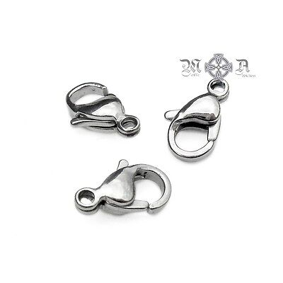 10 x Stainless Steel Lobster Clasps - 316 (Surgical) Grade 12mm or 16mm