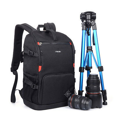 Luxury DSLR Camera Backpack Bag Shockproof Case For Canon EOS Nikon Sony