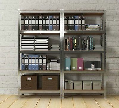 Metal Racking Storage Unit Heavy Duty 5 Tier Garage Shelving Workbench Warehouse