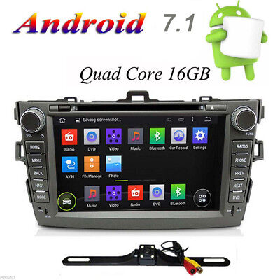 8 Inch Stereo Android 4.4 Car DVD Radio GPS Navi For Toyota Corolla 2012+CAMERA