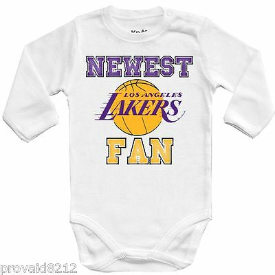 Baby bodysuit Newest fan Los Angeles Lakers, NBA bascet One Piece jersey