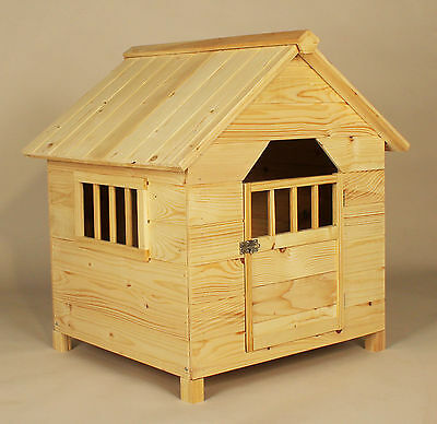 Wooden Dog Kennel Outdoor Pets Large Shelter Solid Fir House Puppy Proof Home
