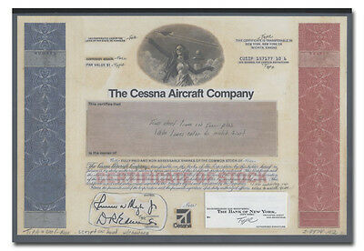 Cessna Aircraft Company Production Folio - American Bank Note Archives