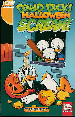 Walt Disney Halloween comics Lot of 4, Donald Duck and Uncle Scrooge