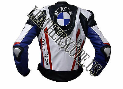 Leon Haslam BMW Motogp Motorbike, Motorcycle Racing Leather jacket ( 15% Off )