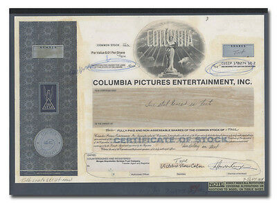 Columbia Pictures Entertainment RARE American Bank Note Production Folio